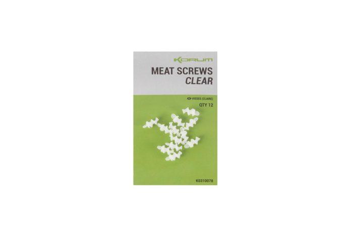 Korum Meat Screws Clear
