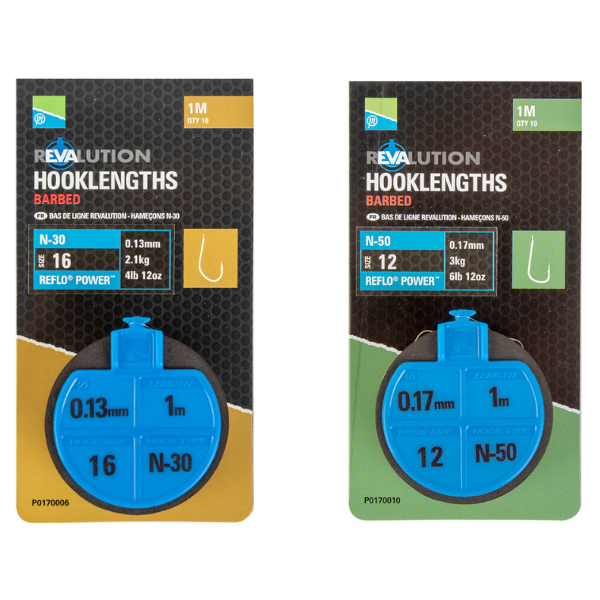 Preston REVALUTION HOOKLENGTHS